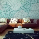 Обои с геометрическим рисунком в интерьере: 4 совета по применению