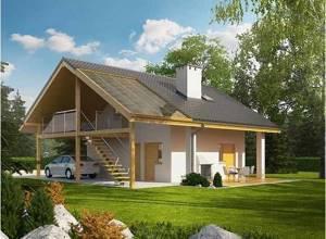 ТОП 11 проектов гаражей с мансардой