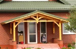 6 советов по обустройству навеса (козырька) над крыльцом частного дома